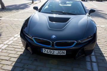 BMW i8 electric sportscar.