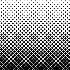 Vector halftone of black diamond on white background