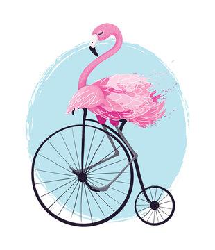 Cute flamingo vector illustration, seamless pattern, textile graphic, wallpaper designs.