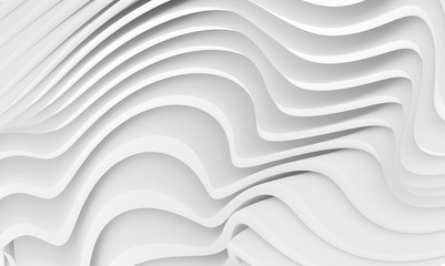 Fotobehang - Abstract Wave Background. Minimalistic Graphic Design. White Wall Wallpaper