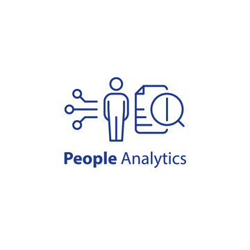 People analytics concept, personal data processing, resignation prediction, performance assessment, human resources