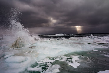 Arktyczny sztorm na południowym Spitsbergenie