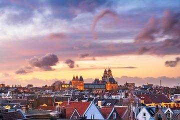 Fotomurales - Amsterdam, Netherlands Rooftop View