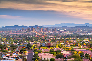 Wall Mural - Phoenix, Arizona, USA Cityscape