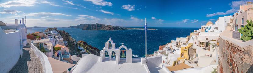 Obraz Oia town cityscape at Santorini island in Greece - fototapety do salonu