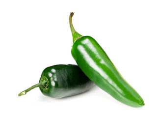 Canvas Prints Hot chili peppers Jalapeno chile pepper isolated on white background Capsicum annuum fruits