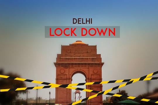 Delhi city lock down, corona virus effect in India