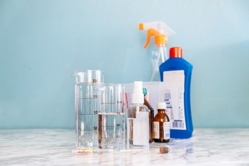 DIY How to make hand sanitizer. DIY alcohol Hand Sanitizer Disinfectant alcohol, hydrogen peroxide,...