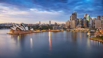 Fototapete - Sydney, Australia. Aerial cityscape image of Sydney, Australia during sunrise.