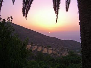 sunset at La Gomera, Canary Islands, Spain