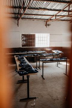 Klassenzimmer in Afrika Gambia