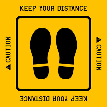 Keep your distance with footprint shoe shape