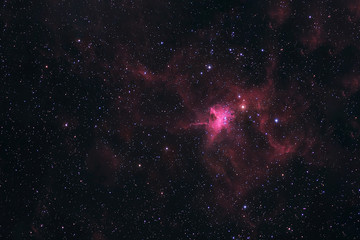 Space nebula in deep space. Elements of this image furnished by NASA were.