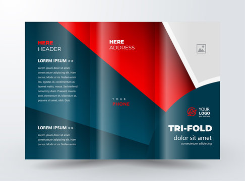 Brochure design template Red and black circles