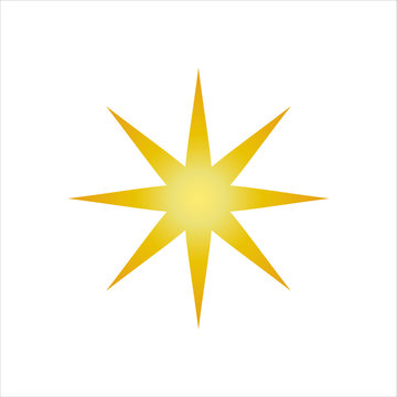 Star or favorite flat icon for apps and websites, star Icon vector isolated on white background.