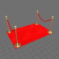 Red carpet barrier