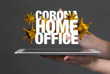 Home office of self quarantine digital.