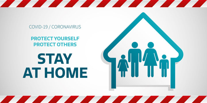 stay home banner