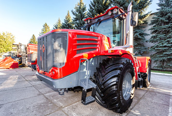 Modern agricultural tractor Kirovets K9450