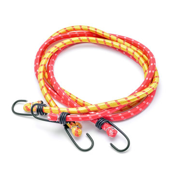 Elastic hook bungee cords isolated