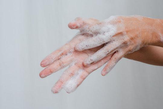 Close up Wash Hand Women  Antivirus