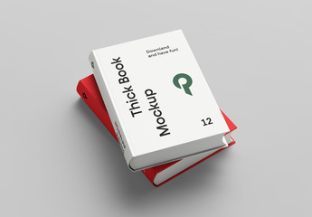 Two Stacked Books Mockup