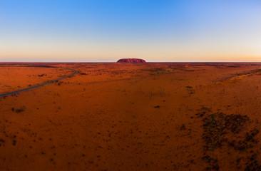 Photo sur Aluminium Rouge traffic Uluru (Ayers Rock) in Australia. Sunset.
