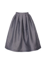 Beautiful striped mini skirt isolated.