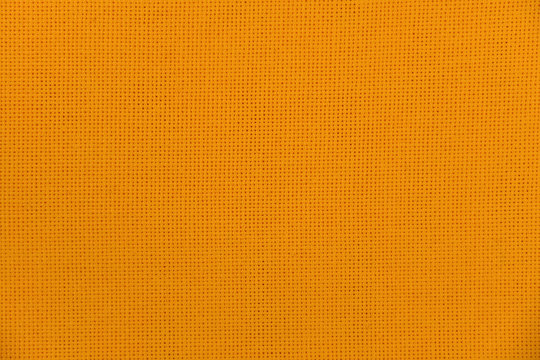 Bright yellow canvas for embroidery fabric texture