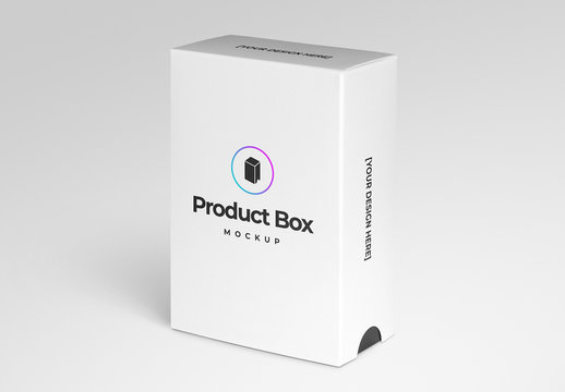 Product Box with Sliding Sleeve Mockup