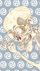 相馬の古内裏の骸骨 カラフル その1