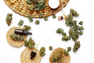Cannabis Buds. Medical marijuana