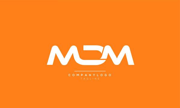 MDM Letter Logo Design Template Vector