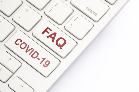 Keyboard inscription FAQ and COVID-19.