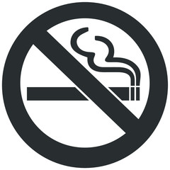 Grey No smoking sign logotype in vector