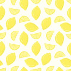 lemons citrus seamless vector repeat pattern design