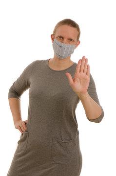 hand schutzmaske grippe corona covid19 krank infektion mundschutz ansteckung virus
