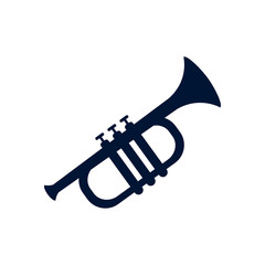 Isolated trumpet silhouette style icon vector design