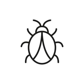 Simple bug line icon.