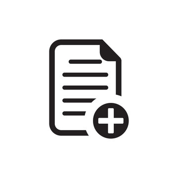 new document icon , add paper icon