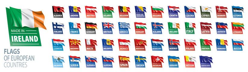 Set of flags of Europe. Vector illustration Fototapete