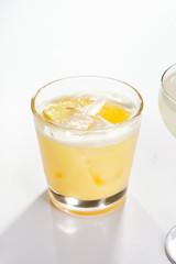 Lemon pie cocktail close up