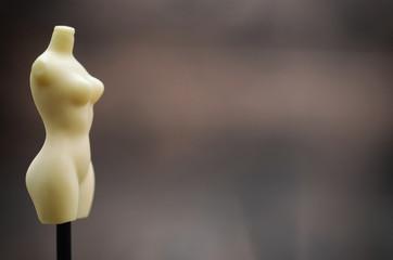 Female vintage Mannequin stand , fashion design concept