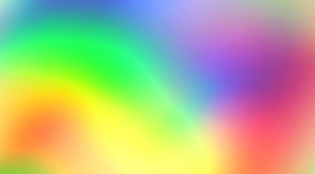 Soft blurry rainbow color mix holographic iridescent metal gradient. Hologram glitch. Light through a prism and smoke. Abstract background