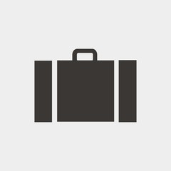briefcase bag icon vector illustration and symbol for website and graphic design