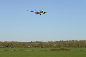Airliner Landing at London Gatwick Airport