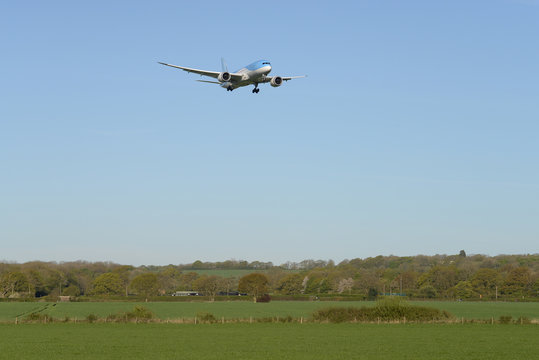 Airliner Landing at London Gatwick Airport