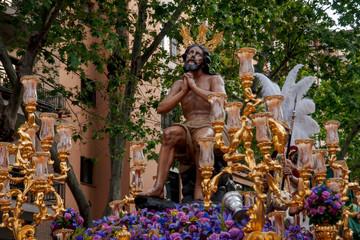 Fototapete - Semana santa de Sevilla, Jesús de las penas de la hermandad de la Estrella