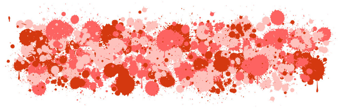 Background design with watercolor splash in red on white background