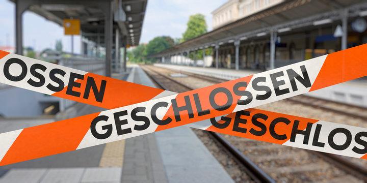 Bahnhof geschlossen